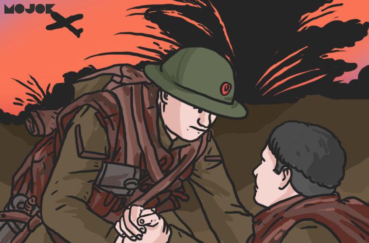 review film 1917 sam mendes one take one shot teknik rahasia membuat film dean charles chapman bennedict cumberbatch george mackay sinematografi review 1917 piala oscar 2020