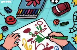 anak-anak suka menggambar gunung anak-anak suka dinosaurus kenapa alasan penyebab penjelasan mojok.co