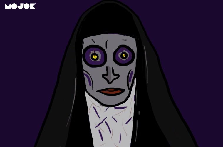 adegan goblok film horor adegan ngeselin bodoh valak the nun hantu basement penampakan di cermin mojok.co