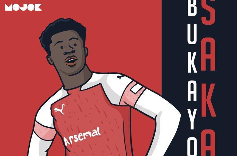 Bukayo Saka Hakim Ziyech Arsenal Chelsea Liga Inggris MOJOK.CO
