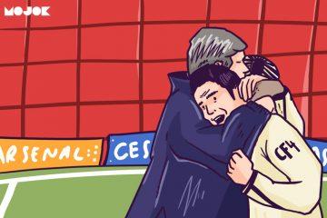Arsenal Fabregas arsene wenger Barcelona Liga Inggris MOJOK.CO
