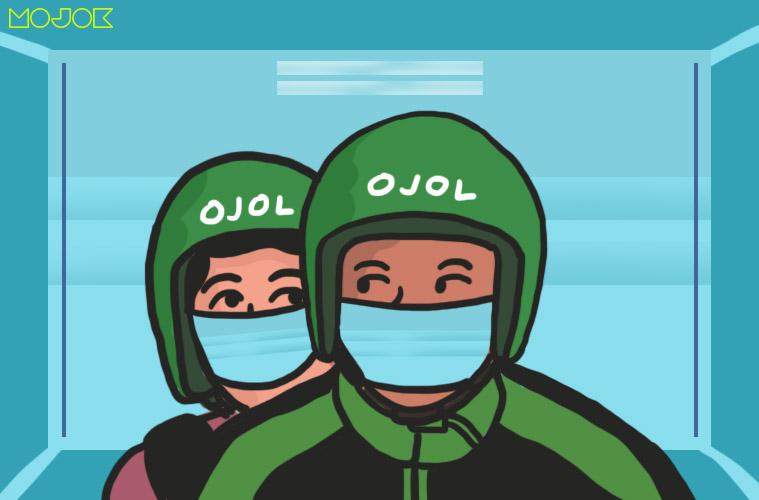 """Driver Ojol Grab dan Gojek Berat Mengaspal, Istri """"Dibuat Kerja"""" Bikin Masker MOJOK.CO"""