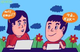 cara orang indonesia menulis email surel yang benar baik resmi mojok.co