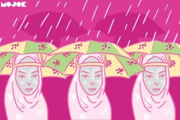 Menjaga kebersihan jilbab MOJOK,CO