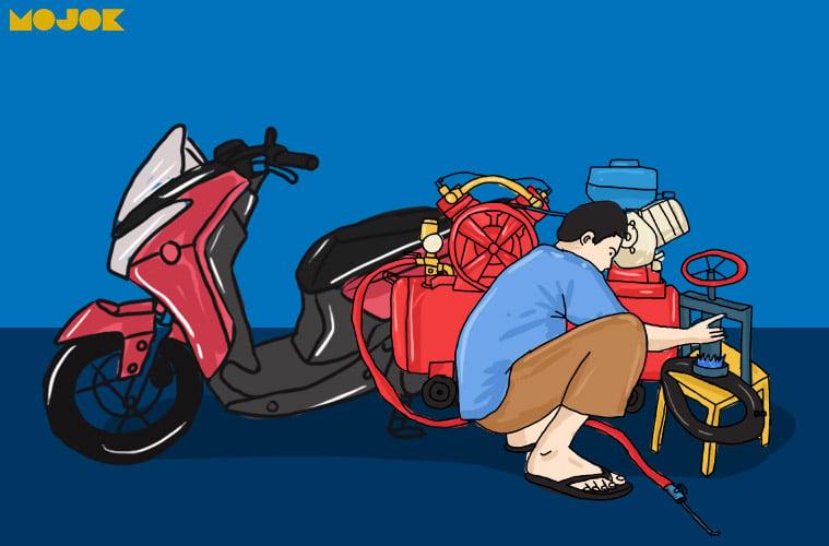 Jenis Jenis Motor Matic Yang Sering Ditolak Tukang Tambal Ban