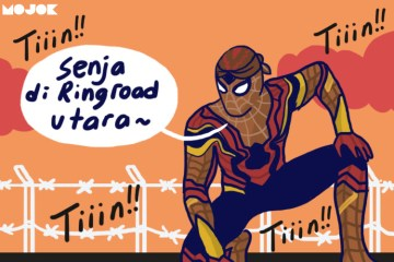 spider-man di jogja MOJOK.CO