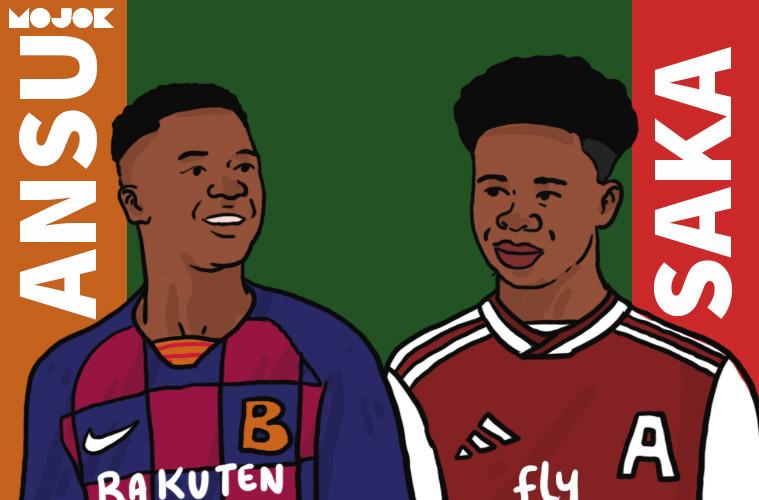 Saka dan Ansu Fati: Menjadi Garam dan Terang Dunia Arsenal dan Barcelona MOJOK.CO