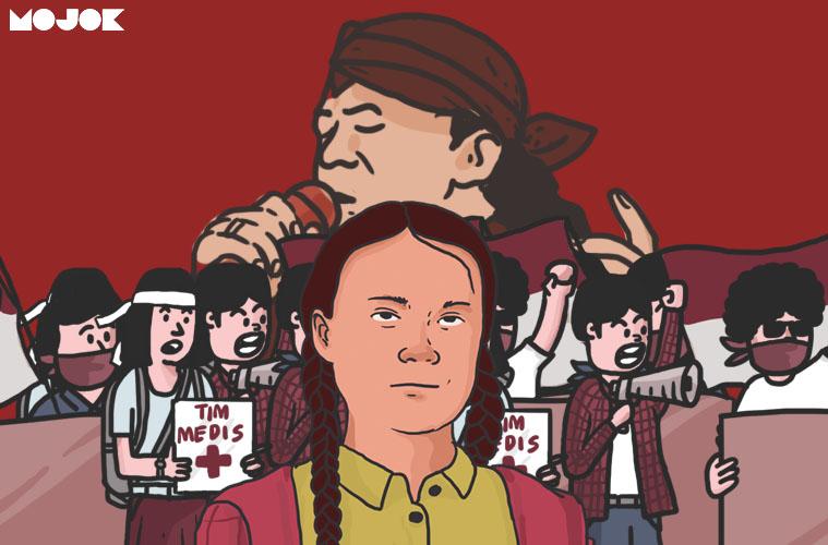 Kemarahan Greta Thunberg dan Ideologi Didi Kempot di Demo Mahasiswa MOJOK.CO