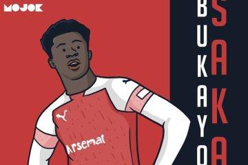 Bukayo Saka Arsenal MOJOK.CO