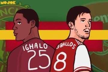 Ighalo ceballos Manchester United Arsenal Liga Inggris virus corona MOJOK.CO
