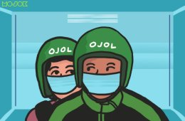 """mojok.co Driver Ojol Grab dan Gojek Berat Mengaspal, Istri """"Dibuat Kerja"""" Bikin Masker MOJOK.CO"""