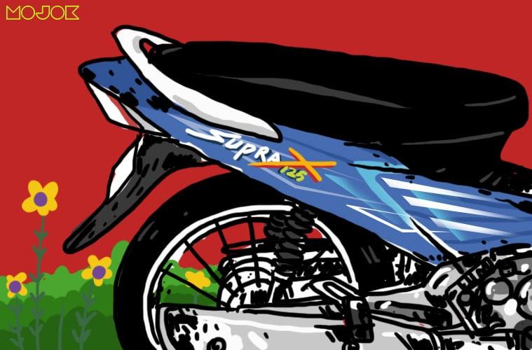 Pertarungan Gengsi Modernitas Honda Supra X 125 vs Honda Karisma yang Pantatnya Menggoda untuk Ditampar MOJOK.CO