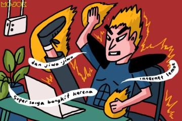Pekerja Digital di Indonesia Hampir Mati Dikoyak Internet Lemot. Begini kok Dituntut Produktif mojok.co