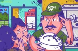 Razia Warung Jualan Siang Hari saat Ramadan di Kota Serang Lebih Penting daripada Anak-anak Ngemis di Jalanan