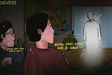 Doa Bapa Kami, Doa Malam Keluarga Jin: Ketika Tembok Belakang Rumah Memotong Makam Menjadi 2 MOJOK.CO