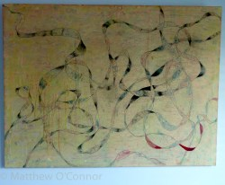 122 cm x 91 cm Acrylic, ink, oil, impasto on canvas