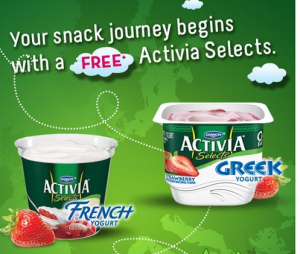 activia selects 300x254 Free Activia Selects Yogurt Coupon