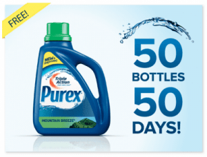 purex giveaway 300x228 Enter to Win Full Size Bottles of Triple Action Purex Detergent (50 Bottles A Day for 50 Days!)