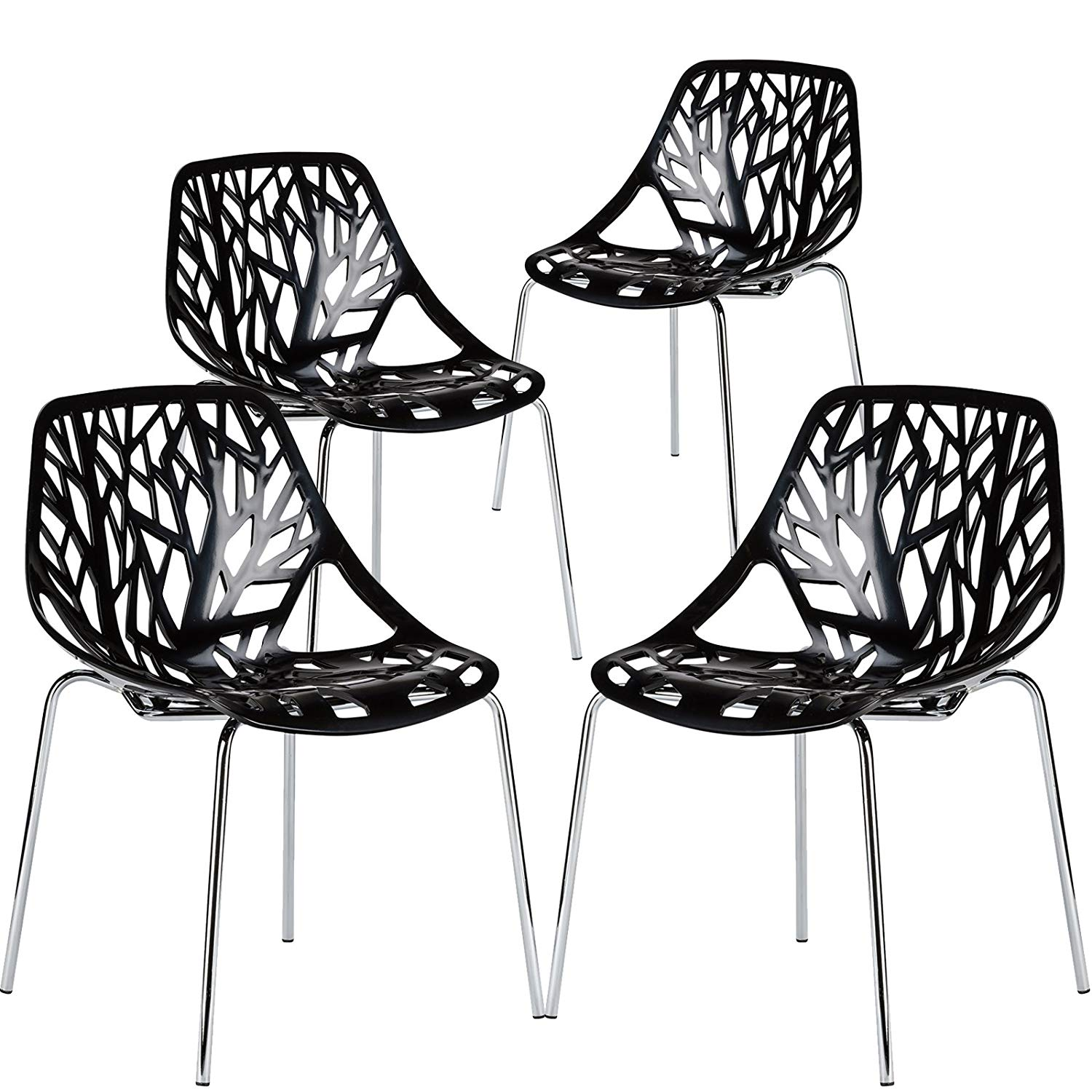 Bird Nest Chair Poly And Bark Birds Nest Dining Side Chair In Black Set Of 4