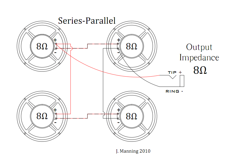 speaker wiring diagram series vs parallel where s my appendix is this series/parallel for a 4x12? | the gear page