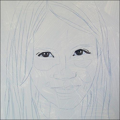 Jak namalować twarz ? Portret ze zdjęcia krok po kroku