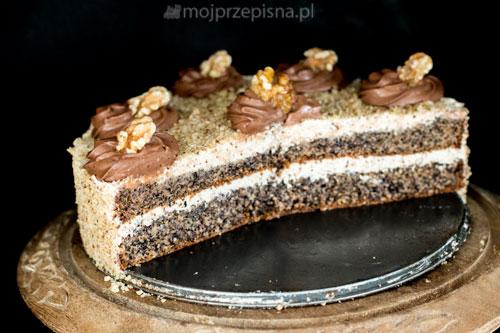 Tort makowo-orzechowy
