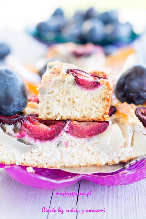 Ciasto bez cukru, z owocami