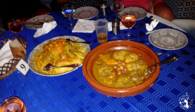 Mój Punkt Widzenia Blog - kolacja w restauracji w Maroku