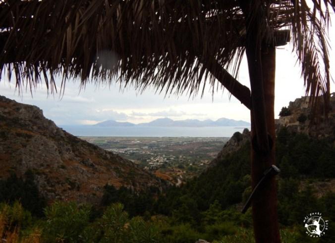 Mój Punkt Widzenia Blog - opuszczona wioska Palio Pyli, widok, Grecja