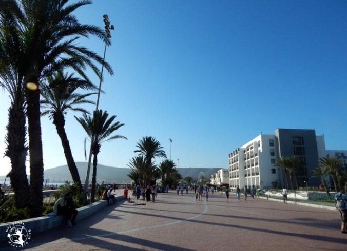 Mój Punkt Widzenia Blog - główny deptak prowadzący do centrum miasta w Agadirze