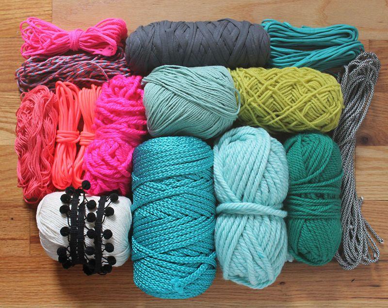 Materijal za DIY kružni tkani tepih.