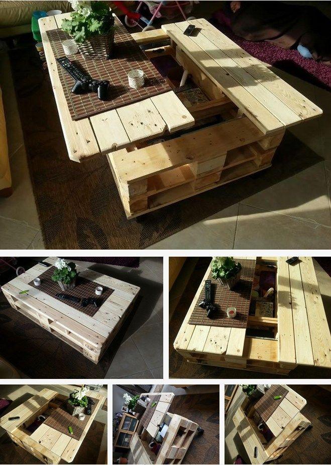 3 sjajne ideje od paleta: Stolić za kafu.