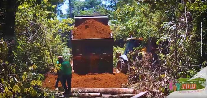 Comunidade Aguapé, que após muitos anos de espera, receberam uma estrada nova.
