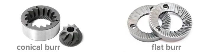 Flat Burr vs Conical Burr Konik Dişli Düz Dişli