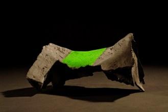 jn hoofd het kussen raakt, klei met pigmentpoeder, 2003