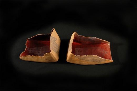 Offerschalen, klei met zeefdruk, 2007