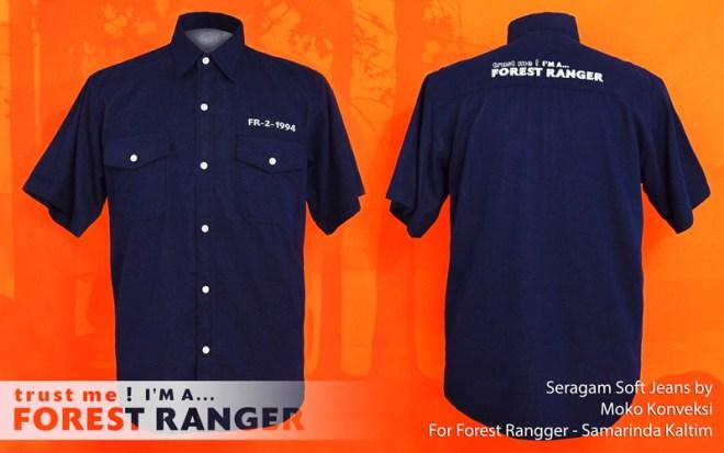 Model Seragam Lapangan Forest Ranger / Polisi Hutan Samarinda Kalimantan Timur Indonesia