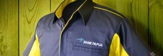 Konveksi Pembuatan Kemeja Kerja Bordir Bank Papua