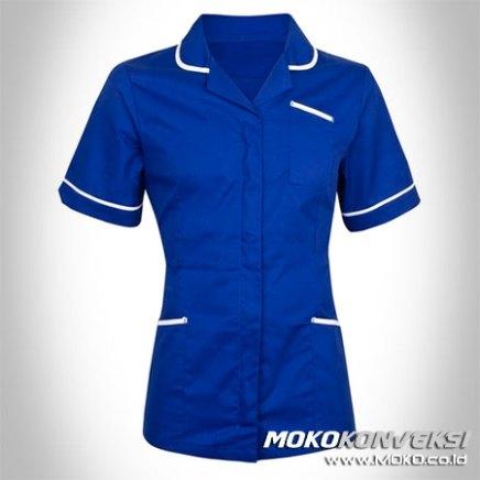 pakaian rumah sakit seragam perawat warna biru putih model baju dinas kesehatan