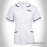 pakaian seragam perawat muslimah warna putih biru untuk seragam rumah sakit dengan desain elegan