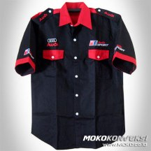 Model Baju Kemeja Seragam Lapangan audi racing team shirt