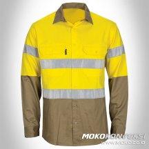 pakaian safety baju mekanik safety scotchlite lengan panjang kombinasi