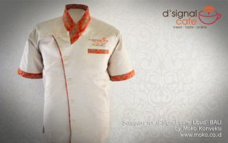 Model Baju Batik Kombinasi Seragam Cafe Ubud Full