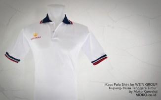 Kaos Polo shirt WEIN GROUP Kupang NTT depan