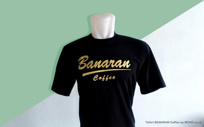 contoh pakaian casual Tshirt Banaran Coffee - Jual kaos distro keren sablon Murah moko.co.id