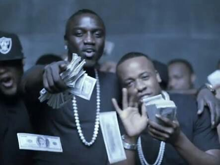 Akon with money