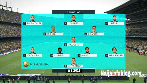 WE 18 Apk team formation