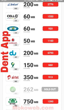 Dent app free unlimited data