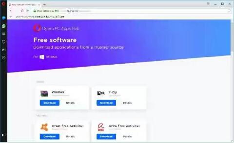 Opera PC Apps Hub