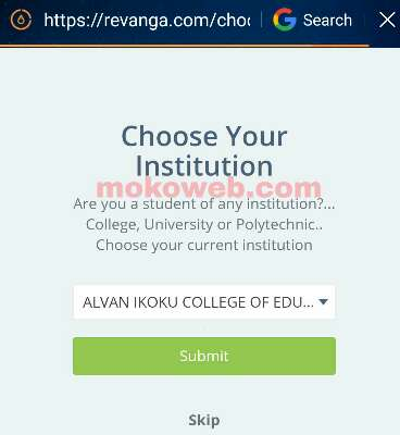 Choose your institution
